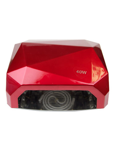 EZ Gel Diamond LED Nail Lamp Dryer with Four Time Settings (40W) #Dark Red