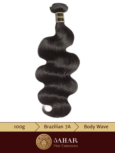 I&K Virgin Brazilian Weft Hair Extensions - Body Waves [7A] (100g)
