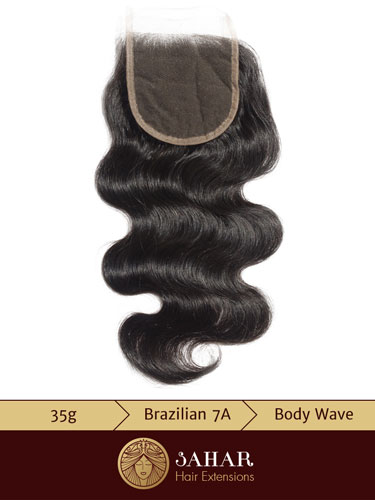 I&K Virgin Brazilian Lace Top Closure - Body Wave Free Part [7A] (35g)