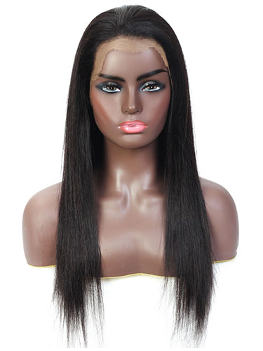 Sahar Tara Straight Human Hair Full Lace Wig #1B Natural Black