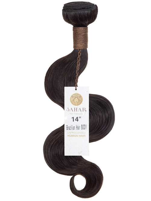 Sahar Unprocessed Brazilian Virgin Weft Hair Extensions 100g – Body Wave