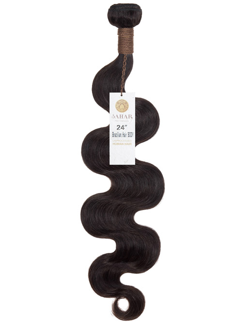 Sahar Unprocessed Brazilian Virgin Weft Hair Extensions 100g - Body Wave