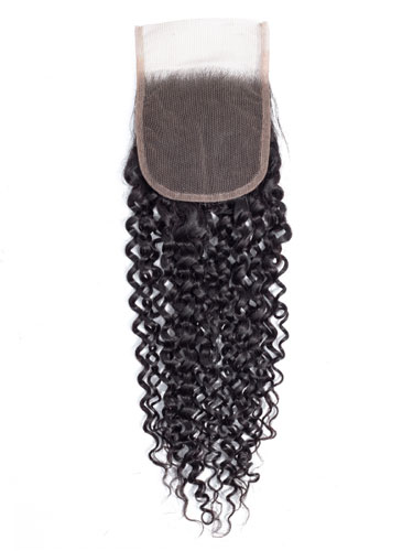 "Sahar Slay Human Hair Top Lace Closure 4"" x 4"" (6A) - Jerry Curl"