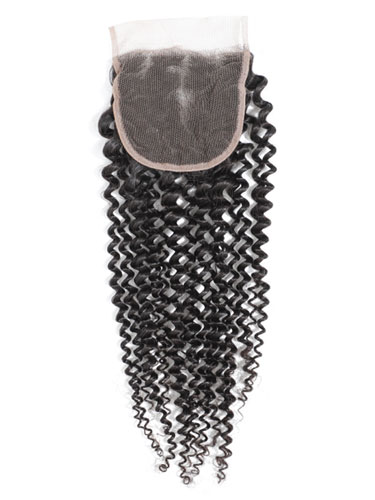 "Sahar Essential Virgin Remy Human Hair  Top Lace Closure 4"" x 4"" (8A) - Kinky"