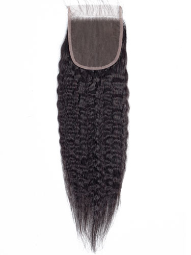 "Sahar Slay Human Hair Top Lace Closure 4"" x 4"" (6A) - Kinky Straight"