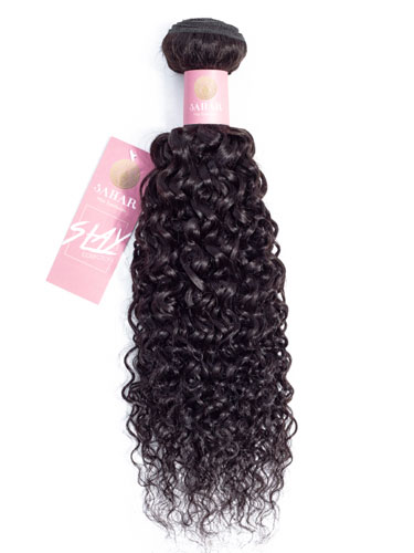 Sahar Slay Human Hair Extensions 100g (6A) - Jerry Curl #1B-Natural Black 22 inch