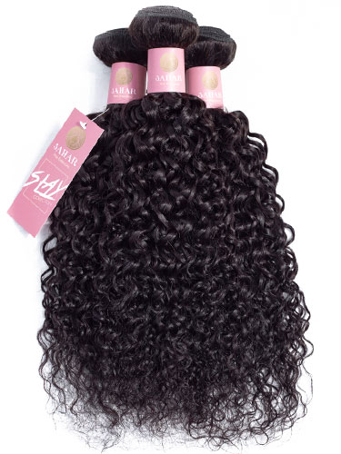Sahar Slay Human Hair Extensions Bundle (6A) - #Natural Black Jerry Curl