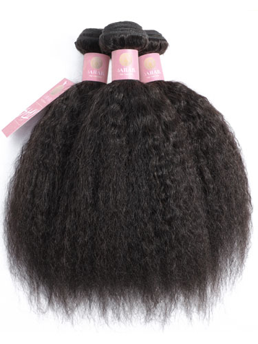 Sahar Slay Human Hair Extensions Bundle - Kinky Straight