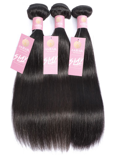 Sahar Slay Human Hair Extensions Bundle (6A) - #Natural Black Straight