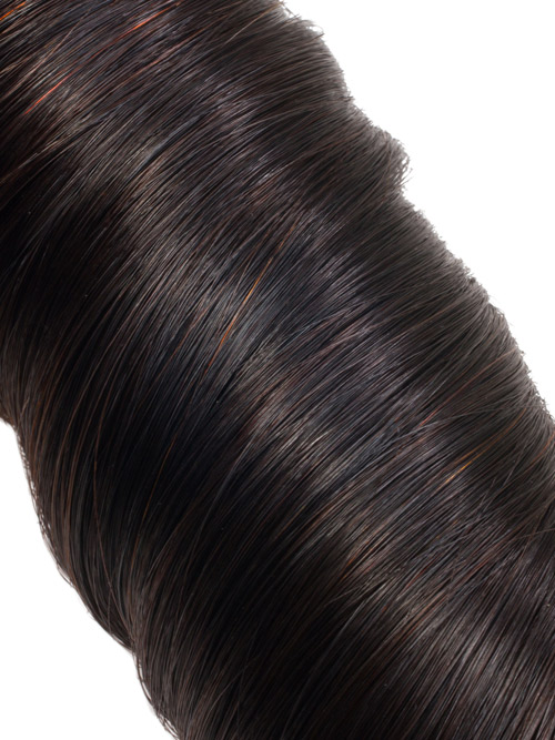 Sahar Unprocessed Brazilian Virgin Weft Hair Extensions Bundle (10A) - #Natural Black Loose Wave