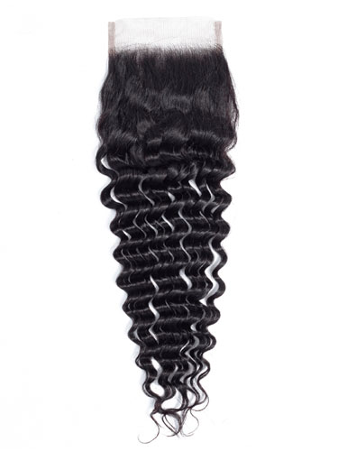 "Sahar Essential Virgin Remy Human Hair  Top Lace Closure 4"" x 4"" (8A) - Deep Wave"