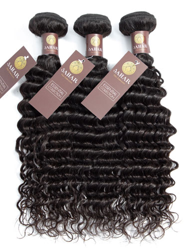 Sahar Essential Unprocessed Virgin Hair Bundle - #Natural Black Deep Wave