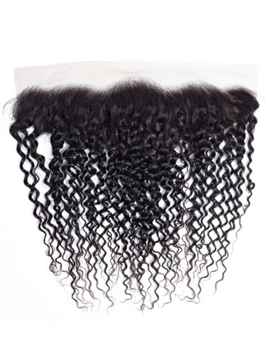 "Sahar Essential Virgin Remy Human Hair Front Lace Closure 4"" x 13"" (8A) - Jerry Curl"
