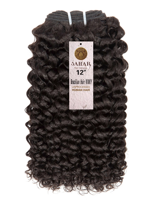 Sahar Essential Unprocessed Brazilian Virgin Weft Hair Extensions 100g - Kinky