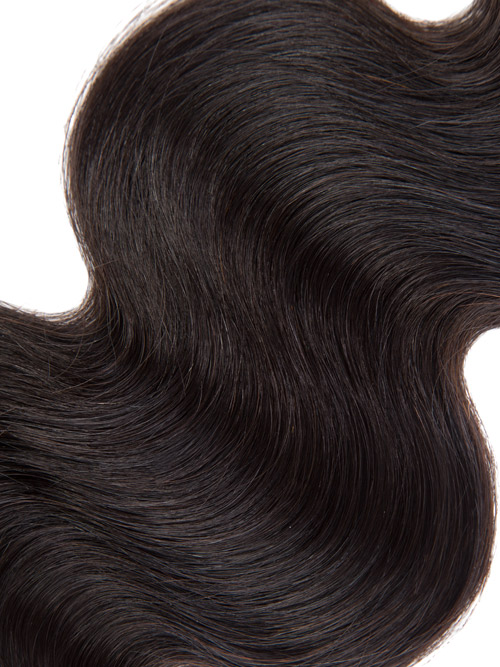 Sahar Essential Virgin Remy Human Hair Extensions 100g (8A) - Body Wave #1B-Natural Black 12 inch