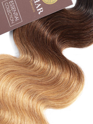 Sahar Essential Virgin Remy Human Hair Extensions 100g (8A) - Body Wave #OT/4/27 16 inch