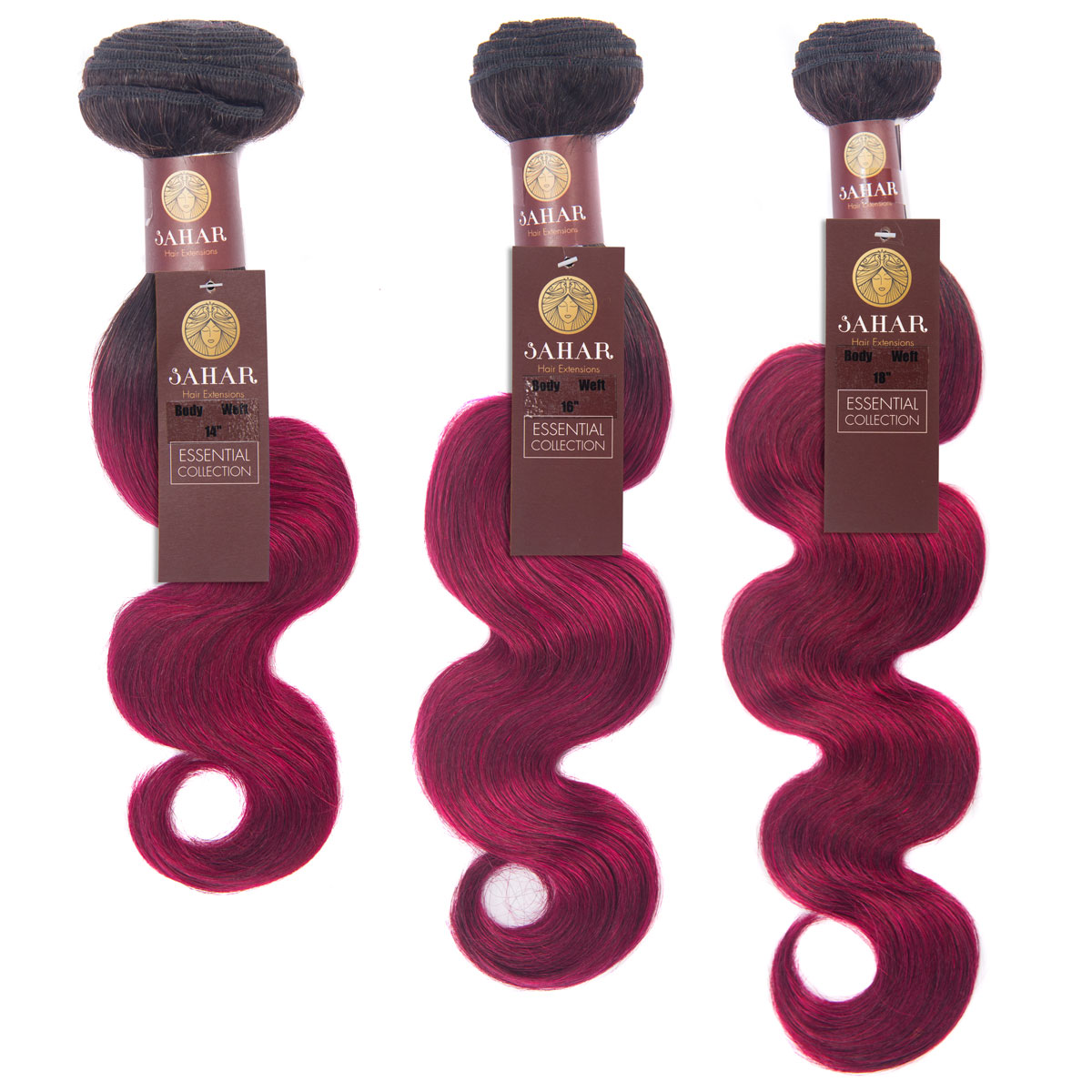 Sahar Essential Virgin Remy Human Hair Extensions Bundle (8A) - #OT118 Body Wave