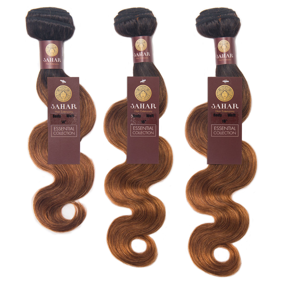 Sahar Essential Virgin Remy Human Hair Extensions Bundle (8A) - #OT30 Body Wave