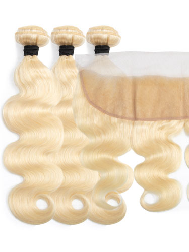 Sahar Essential Virgin Remy Human Hair Extensions Bundle (8A) - #613 Body Wave
