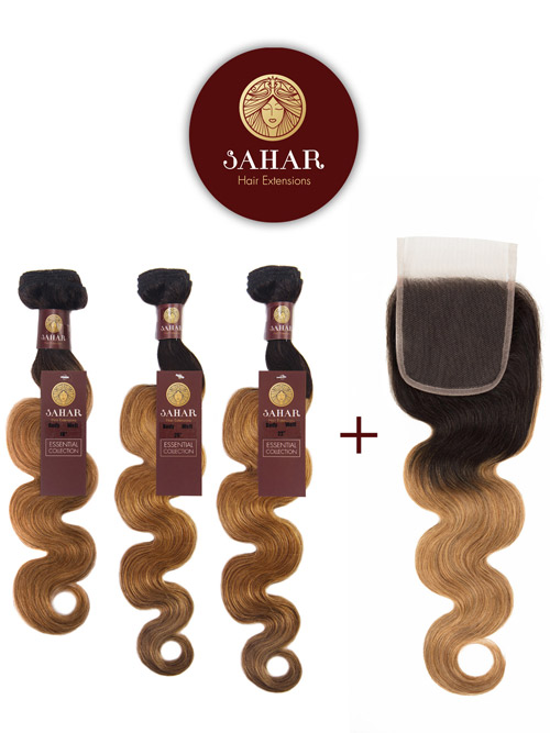 Sahar Essential Virgin Remy Human Hair Extensions Bundle (8A) - #OT27 Body Wave