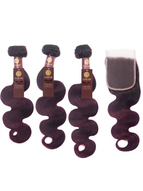 Sahar Essential Virgin Remy Human Hair Extensions Bundle (8A) - #OT99J Body Wave