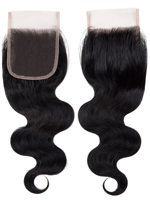 "Sahar Essential Unprocessed Brazilian Virgin Hair Top Lace Closure 4"" x 4"" - Body Wave"