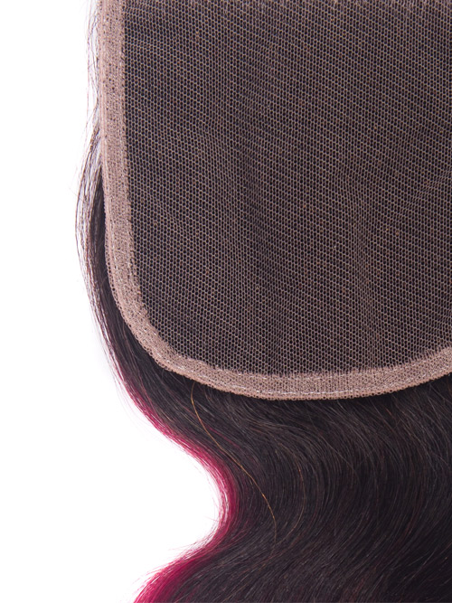 "Sahar Essential Virgin Remy Human Hair  Top Lace Closure 4"" x 4"" (8A) - Body Wave #OT118 18 inch"
