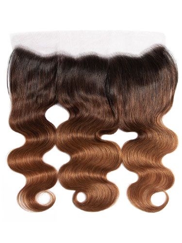 "Sahar Essential Virgin Remy Human Hair Front Lace Closure 4"" x 13"" (8A) - Body Wave #OT/4/30 16 inch"