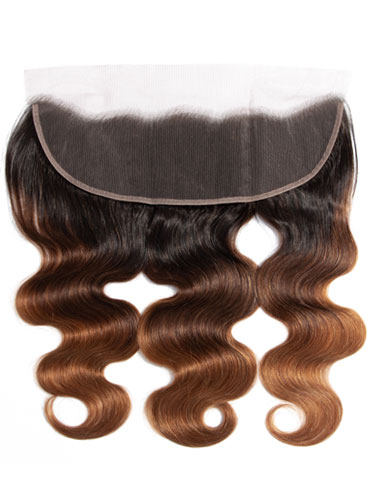 "Sahar Essential Virgin Remy Human Hair Front Lace Closure 4"" x 13"" (8A) - Body Wave #OT/4/30 12 inch"