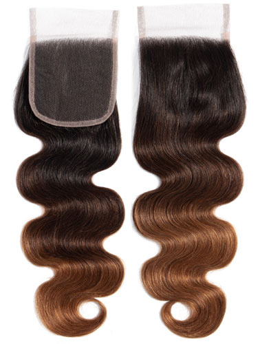 "Sahar Essential Virgin Remy Human Hair  Top Lace Closure 4"" x 4"" (8A) - Body Wave"
