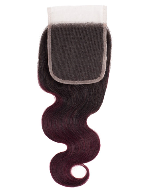 Sahar Essential Unprocessed Virgin Top Lace Closure 4 inch X 4 inch - Body Wave #OT99J 12 inch