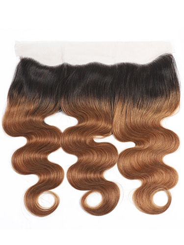 "Sahar Essential Virgin Remy Human Hair Front Lace Closure 4"" x 13"" (8A) - Body Wave #OT30 12 inch"