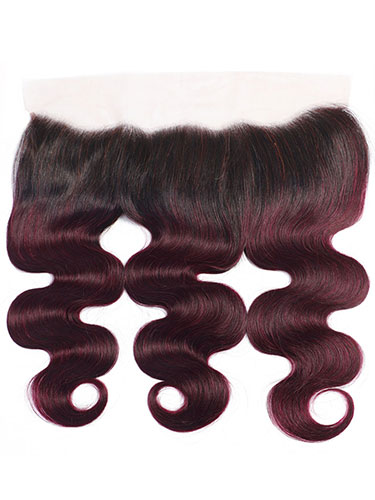 "Sahar Essential Virgin Remy Human Hair Front Lace Closure 4"" x 13"" (8A) - Body Wave #OT99J 18 inch"
