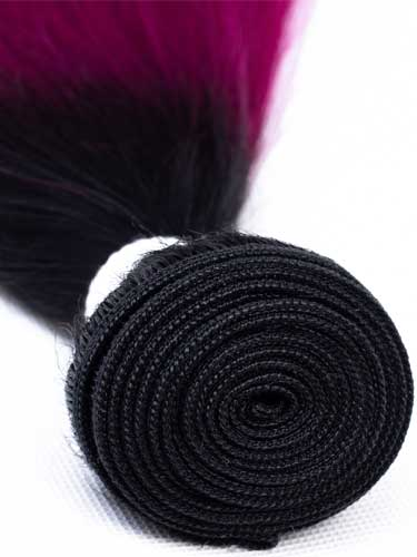 Sahar Essential Unprocessed Virgin Weft Hair Extensions 100g - Straight #Pink Velvet 10 inch