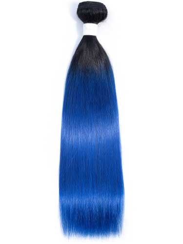 Sahar Essential Virgin Remy Human Hair Extensions 100g (8A) - Straight #Electric Blue 12 inch
