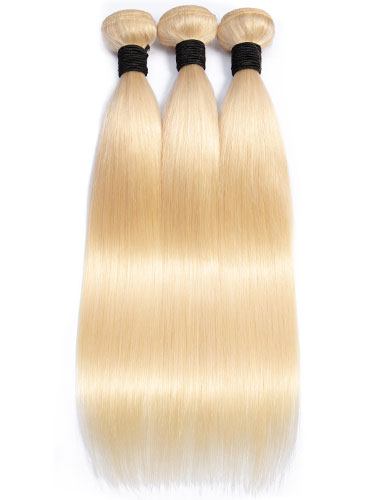 Sahar Essential Unprocessed Brazilian Virgin Weft Hair Extensions Bundle - #613 Straight