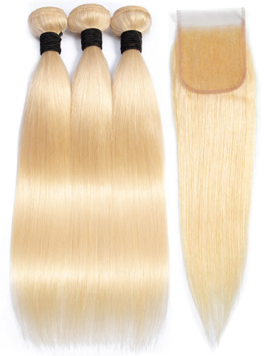 Sahar Essential Virgin Remy Human Hair Extensions Bundle (8A) - #613 Straight