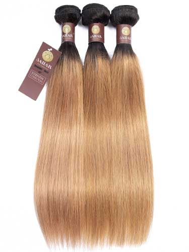 Sahar Essential Virgin Remy Human Hair Extensions Bundle (8A) - #OT27 Straight