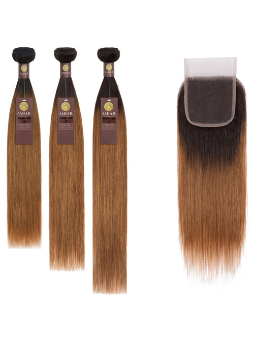 Sahar Essential Virgin Remy Human Hair Extensions Bundle (8A) - #OT30 Straight