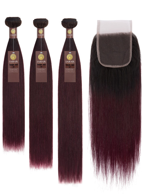 Sahar Essential Virgin Remy Human Hair Extensions Bundle (8A) - #OT99J Straight