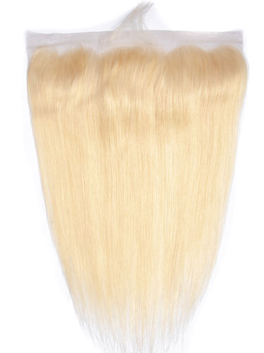 "Sahar Essential Virgin Remy Human Hair Front Lace Closure 4"" x 13"" (8A) - Straight #613-Lightest Blonde 14 inch"