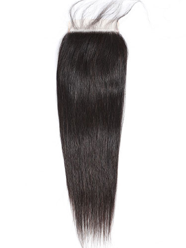 "Sahar Essential Virgin Remy Human Hair Top Closure 6"" x 6"" (8A) - Straight #1B-Natural Black 18 inch"