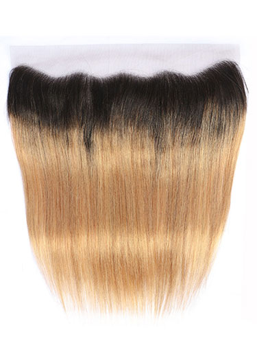 "Sahar Essential Virgin Remy Human Hair Front Lace Closure 4"" x 13"" (8A) - Straight #OT27 12 inch"