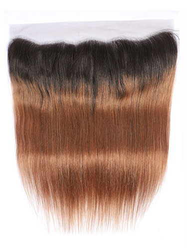 "Sahar Essential Virgin Remy Human Hair Front Lace Closure 4"" x 13"" (8A) - Straight #OT30 18 inch"