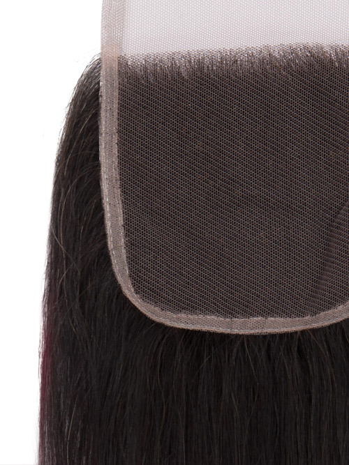 "Sahar Essential Virgin Remy Human Hair Top Lace Closure 4"" x 4"" (8A) - Straight #OT99J 18 inch"