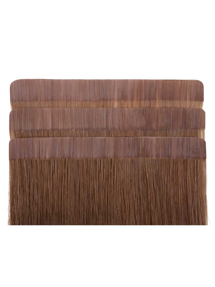 VL Tape In Hair Extensions (20 pieces x 4cm) #8-Light Brown 18 inch