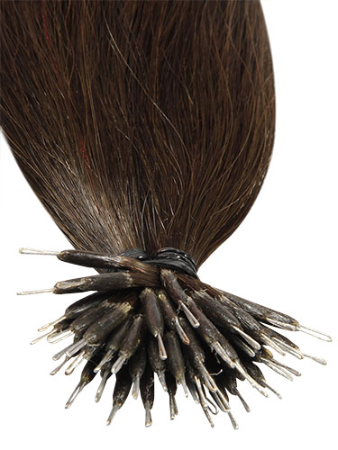 VL Pre Bonded Nano Tip Remy Hair Extensions #2-Darkest Brown 14 inch