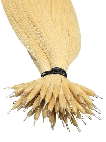 VL Pre Bonded Nano Tip Remy Hair Extensions #22-Medium Blonde 18 inch