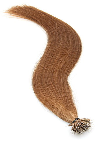 VL Pre Bonded Nano Tip Remy Hair Extensions #6-Medium Brown 14 inch