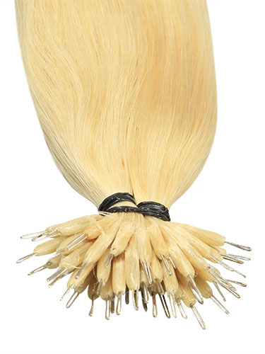VL Pre Bonded Nano Tip Remy Hair Extensions #613-Lightest Blonde 18 inch